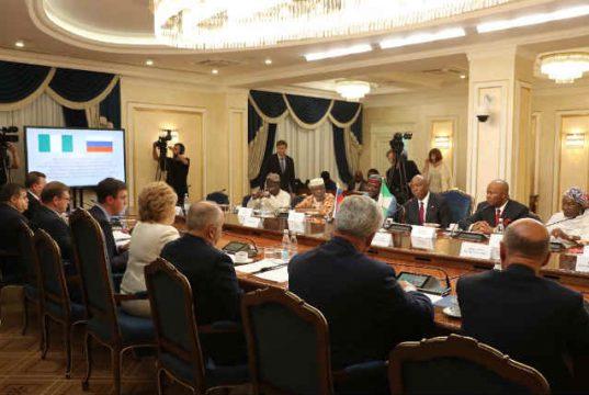 Senator Bukola Saraki meeting with the Russian Parliament's Upper Chamber Leaders 2