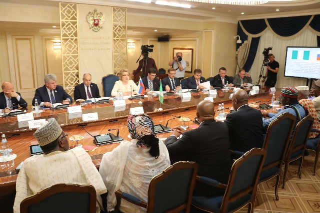 Senator Bukola Saraki meeting with the Russian Parliament's Upper Chamber Leaders 4