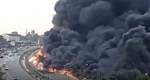 Tanker Explosion at Otedola Bridge leading to Berger Area of Lagos State