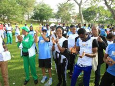 H.E. Mrs Toyin Ojora Saraki at Walk the Talk May 2018