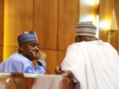 Senate Presendent Bukola Saraki and House of Representative Speaker Yakubu Dogara.
