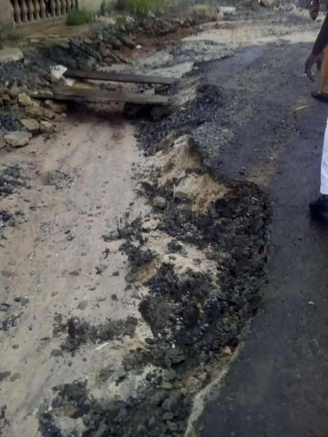 Washed Road Project in River State