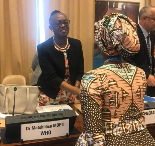 Mrs Saraki with Dr. Moeti, Africa Regional Director of the WHO