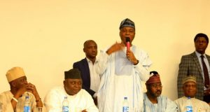 Dr Bukola Saraki makes his remarks...says he is committed to a united Nigeria
