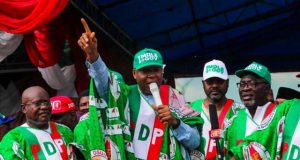 Dr. Abubakar Bukola Saraki at the PDP Governorship Campaign in Osun State