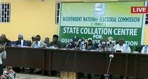 INEC Collation of Results for Osun State Governorship Election in Osogbo
