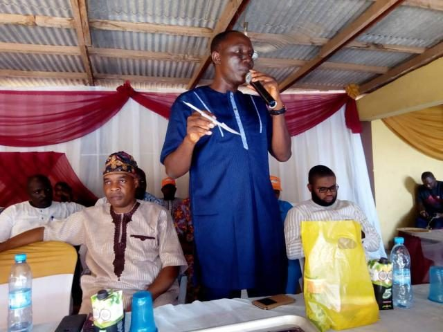 Omooba Sunday Solarin makes his remarks...urges KRD to remain focused