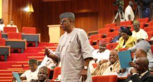 Senator Gbenga Ashafa at the floor of National Assembly