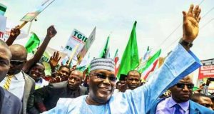Alhaji Atiku Abubakar at 2018 PDP Presidential Primary in Port Harcourt,