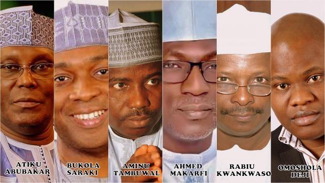 PDP 2018 Presidential Primary Contenders