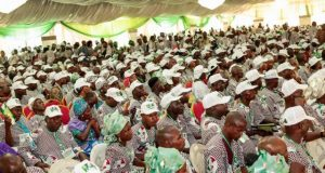 Cross section of the authentic delegates at the Ogun State PDP 2018 Gubernatorial Primary on September 27, 2018