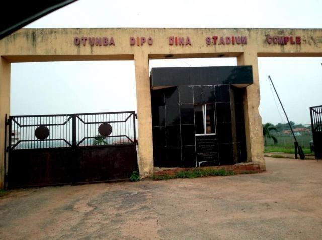 The Entrance Gate of Otunba Dipo Dina Stadium Complex in Ijebu Ode