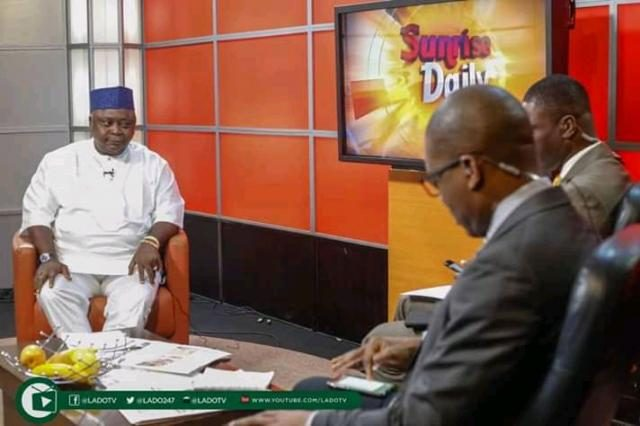 Hon Ladi Adebutu on a live Channels TV Sunrise Daily Program on November 2, 2018