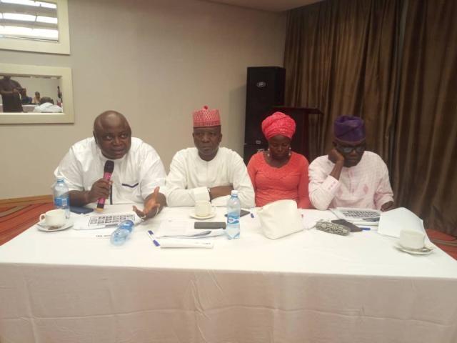 Hon Ladi Adebutu with Hon Sikirulai Ogundele, Alhaja Jamila Alagba and Hon Waliu Taiwo