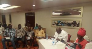 Hon Ladi Adebutu with guests and other participants at the retreat