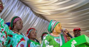 Chief (Mrs) Titi Atiku Abubakar at the PDP Town Hall Meeting in Abeokuta
