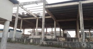 Dilapidated and very pathetic situation of the International Market, Sagamu