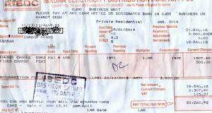 Sample NEPA or PHCN Bill