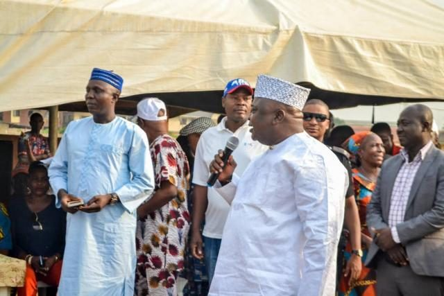 Hon Ladi Adebutu, Hon Kamorudeen Ariyo and Omooba Sunday Solarin in Ogere