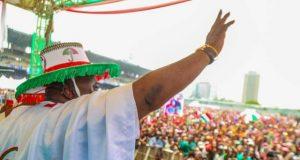 Ogun PDP Governorship Candidate Hon Ladi Adebutu at Lagos PDP Presidential Rally