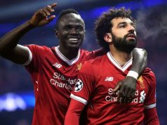 Sadio Mane and Mohammed Salah