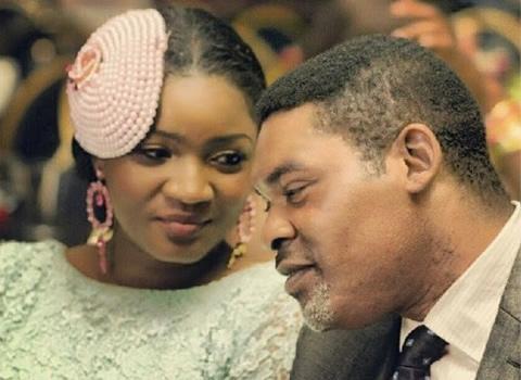 Omotola Jalade and her husband
