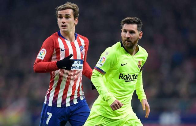Antoine Griezmann and Lionel Messi
