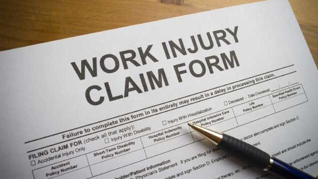 Sample Workplace Injury Claim Form