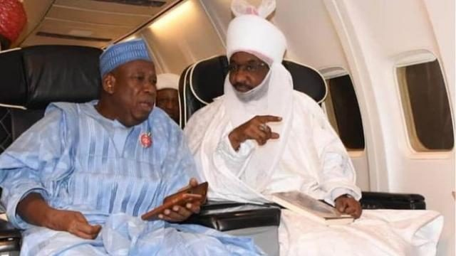 Kano State Governor Umar Ganduje and Emir Muhammad Sanusi II