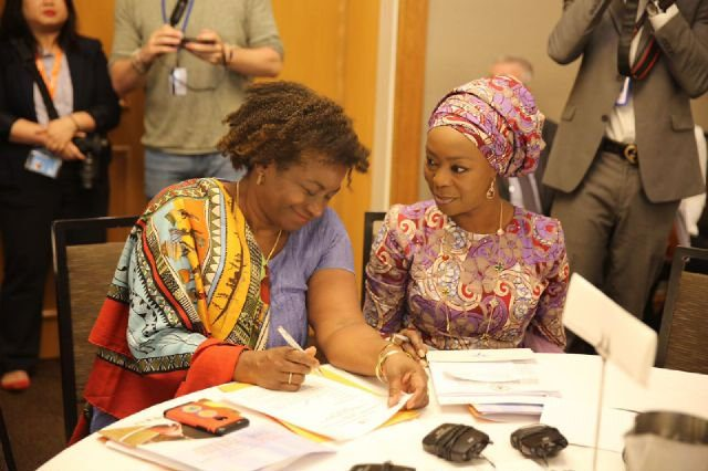 Toyin Saraki with Dr Natalia Kanem, UNFPA Executive Director