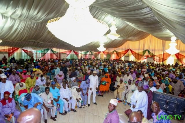 Cross section of party enthusiastic faithfuls at the Ogun State PDP unification meeting