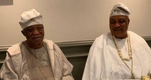 The great philanthropist, Sir Kesington Adebutu with the Akarigbo of Remoland, HRM Oba (Dr) Babatunde Ajayi