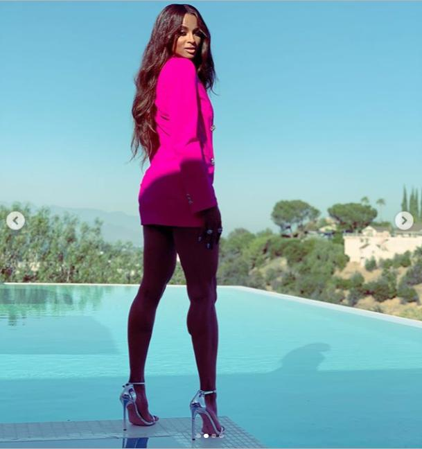 Ciara Flaunts Legs and Free-Flowing Curls in Dsquared2