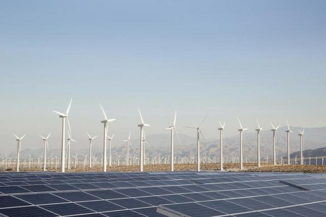 Renewable Energy - Solar and Wind Farm