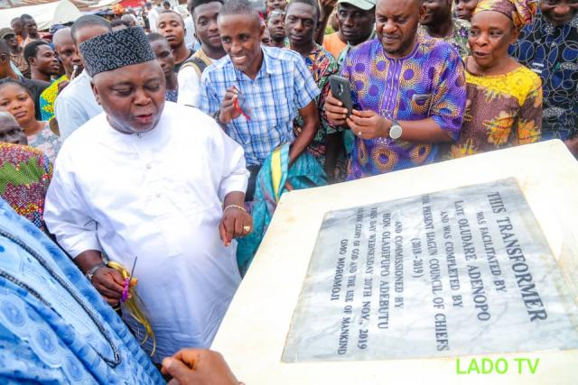 Adebutu commissions the transformer