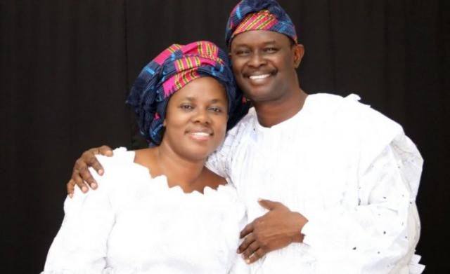 Mike-Bamiloye and his wife
