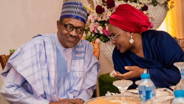 President Muhammadu Buhari and wife, Aisha Buhari