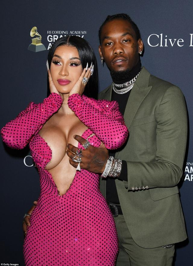 Cardi B And Offset at Pre Grammy Bash2