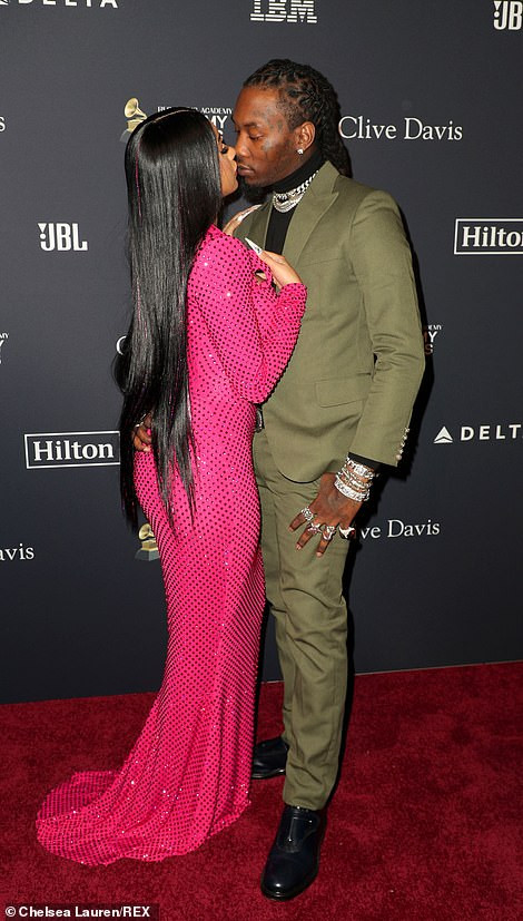 Cardi B And Offset at Pre Grammy Bash4