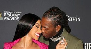 Cardi B And Offset at Pre Grammy Bash5