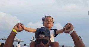 Joseph Yobo and his daughter