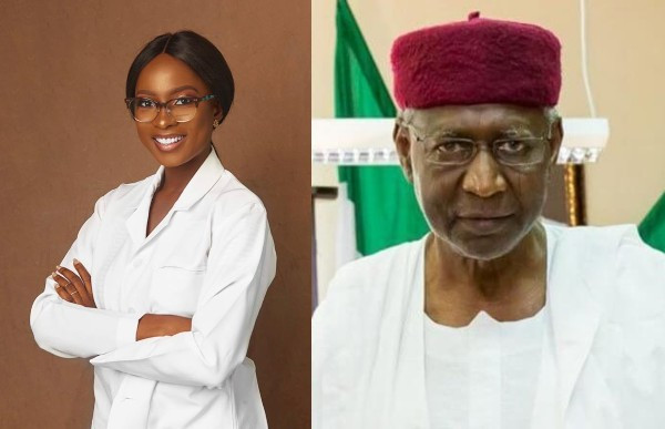 Jemina Osunde and Abba Kyari