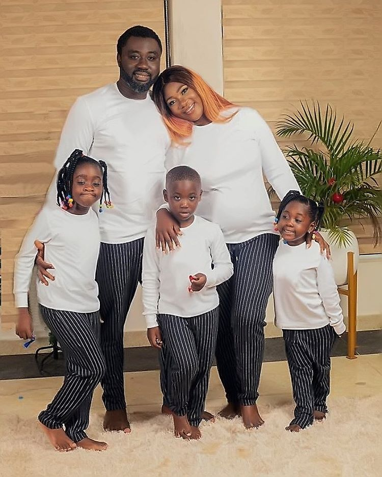 Mercy Johnson and family