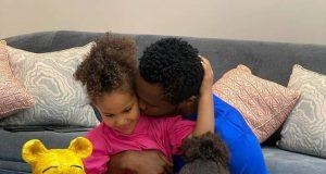 Mikel Obi and his daughters