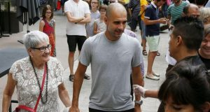 Pep Guardiola and his mother