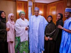Muhammadu Buhari and his family