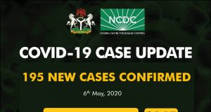 Nigeria COVID-19 Case Update – 195 New Cases confirmed, 103 Deaths and 3145 Total Cases as at 6th May