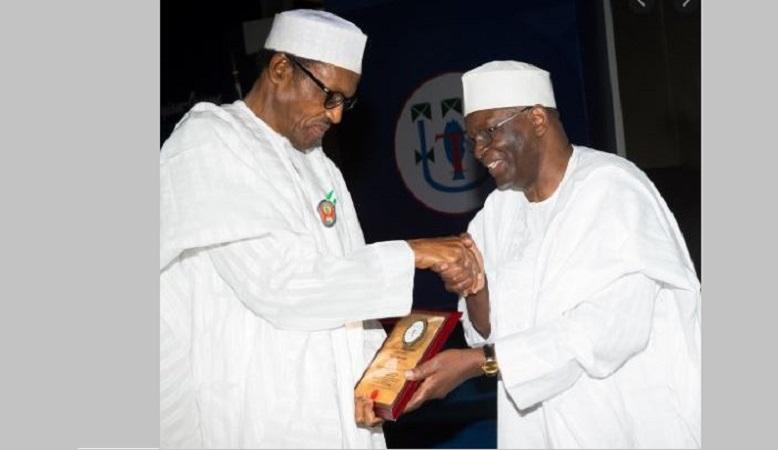 Professor Ibrahim Gambari and Muhammadu Buhari