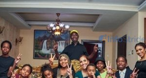 Ned Nwoko and his family