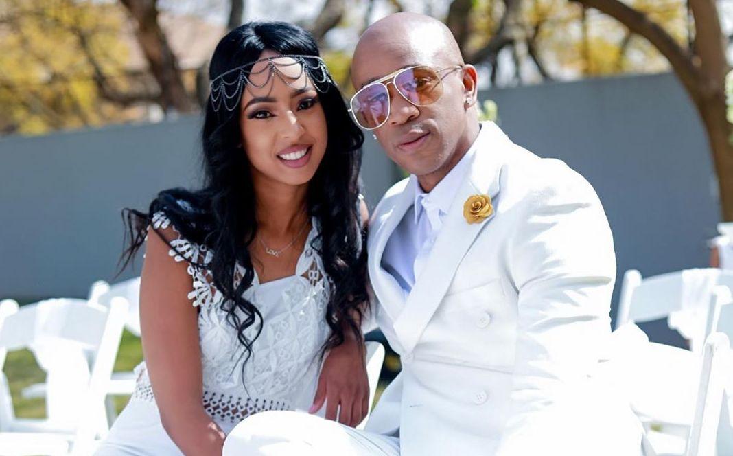 Mafikizolo's Theo Kgosinkwe and his wife
